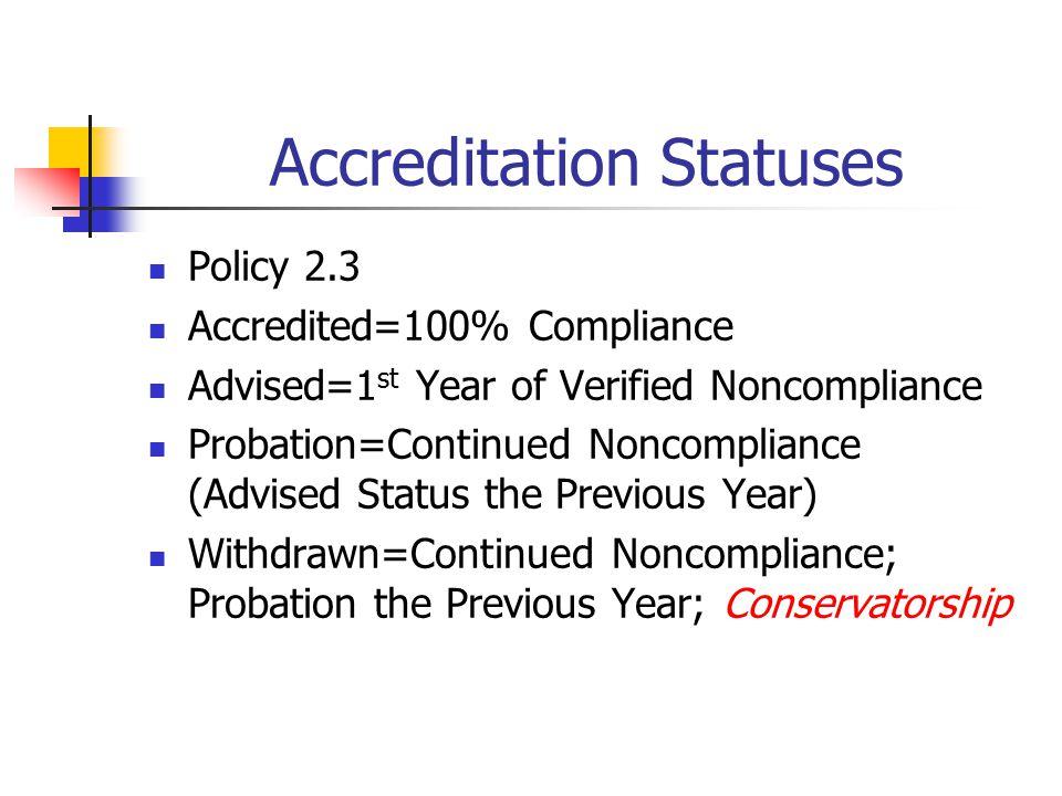 Accreditation Statuses