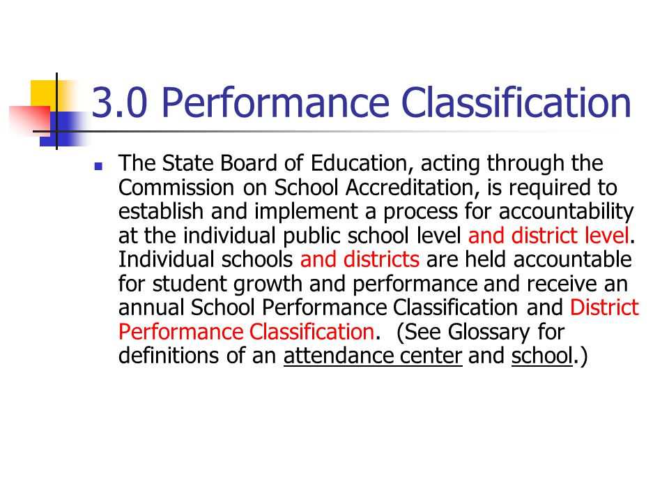 3.0 Performance Classification