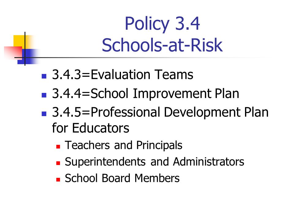 Policy 3.4 Schools-at-Risk