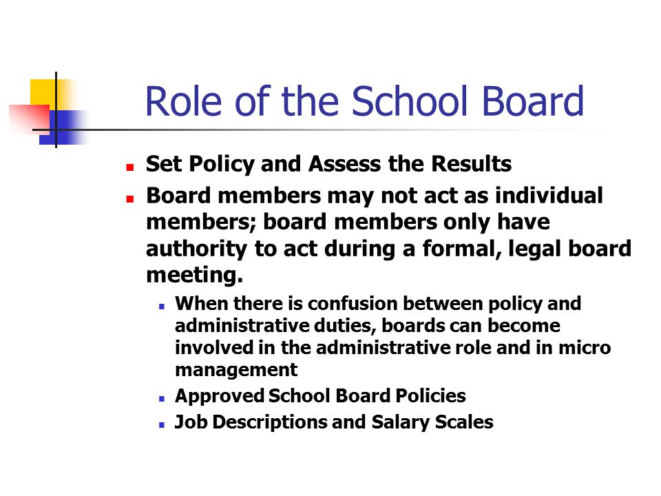 Role of the School Board