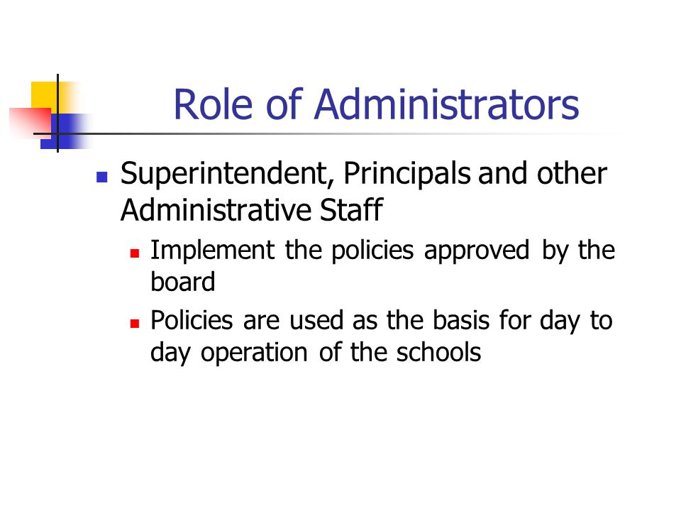 Role of Administrators