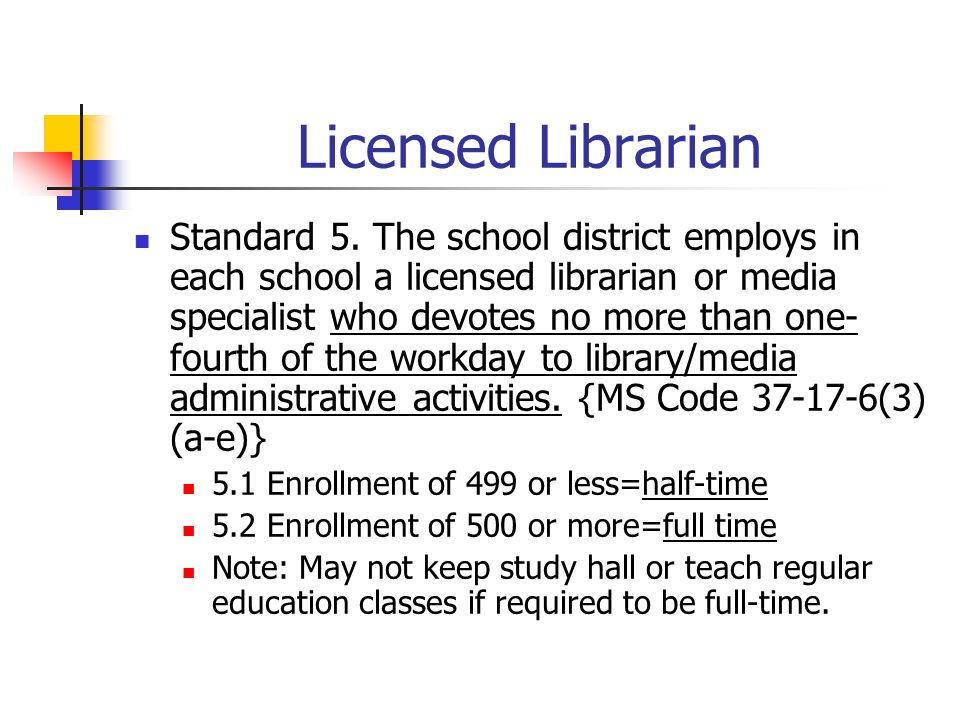 Licensed Librarian