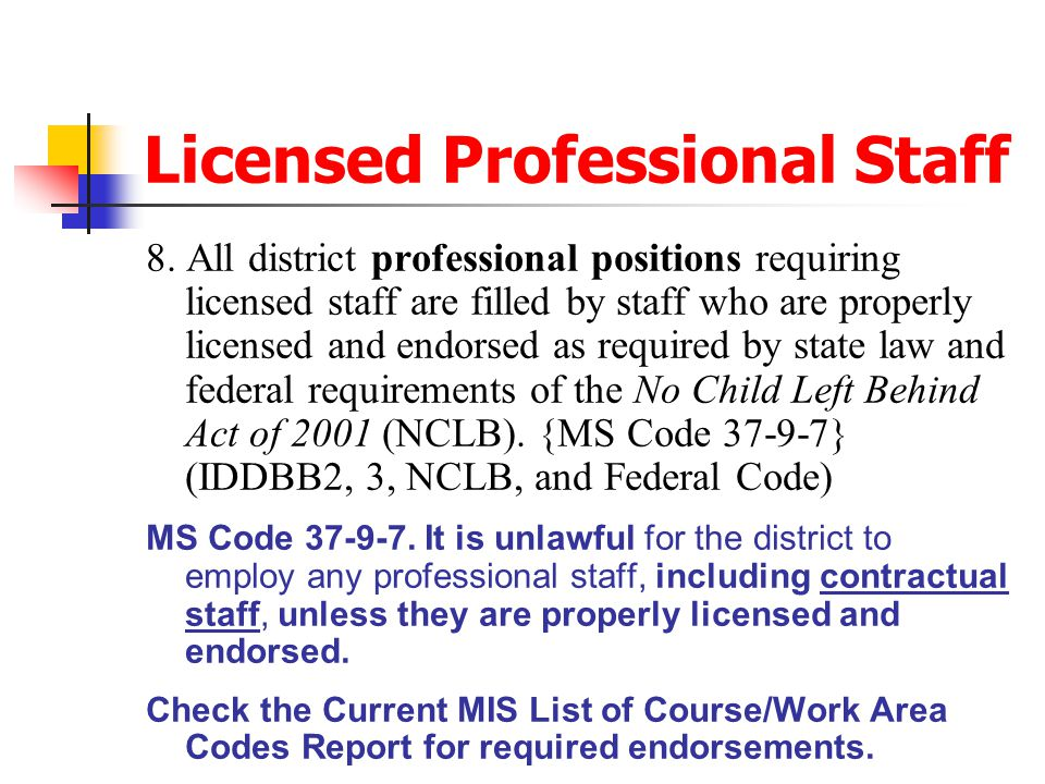 Licensed Professional Staff