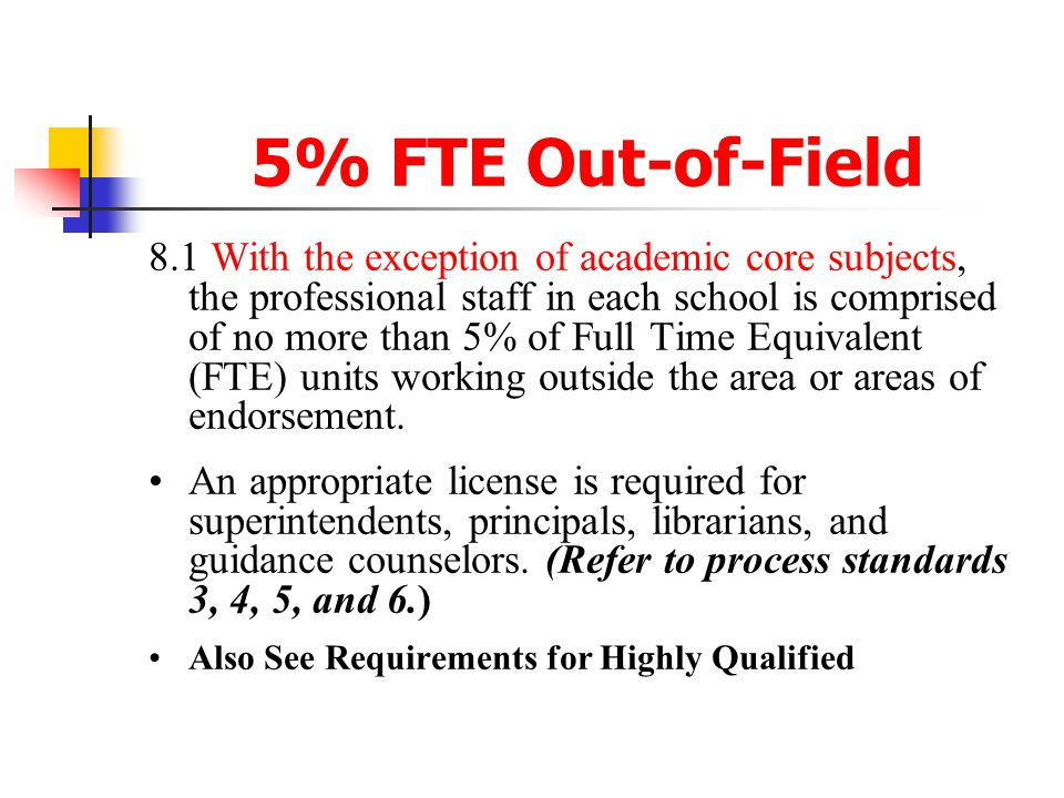 5% FTE Out-of-Field