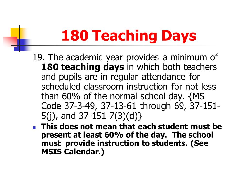 180 Teaching Days