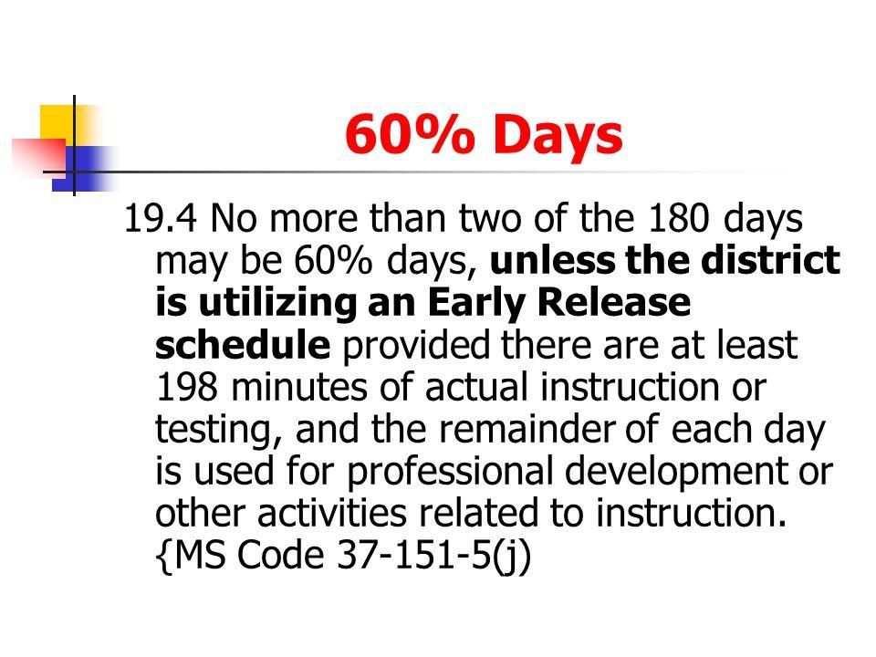 60% Days