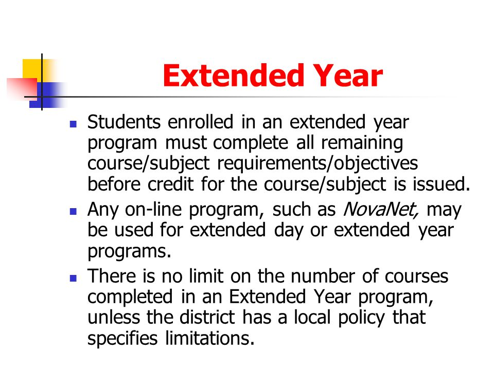 Extended Year