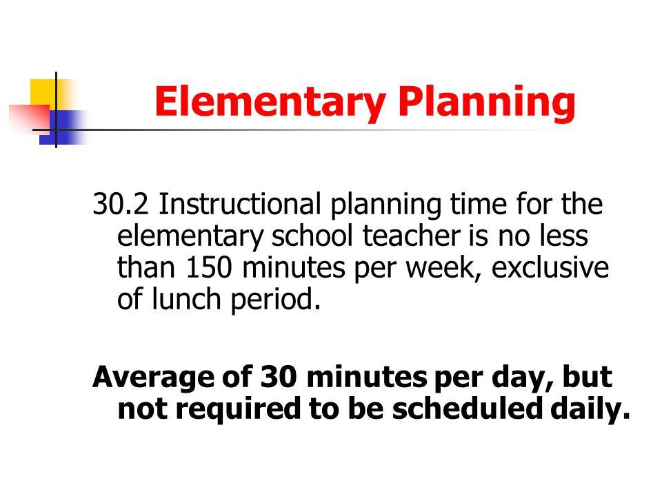 Elementary Planning