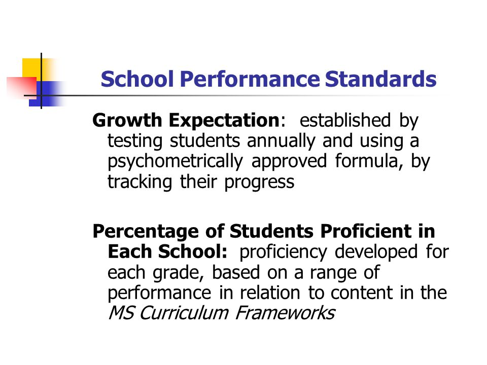 School Performance Standards