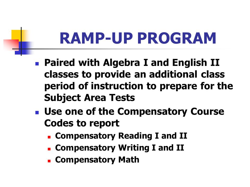 RAMP-UP PROGRAM