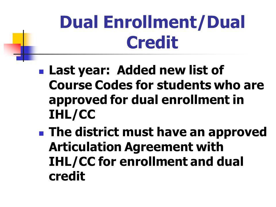 Dual Enrollment/Dual Credit