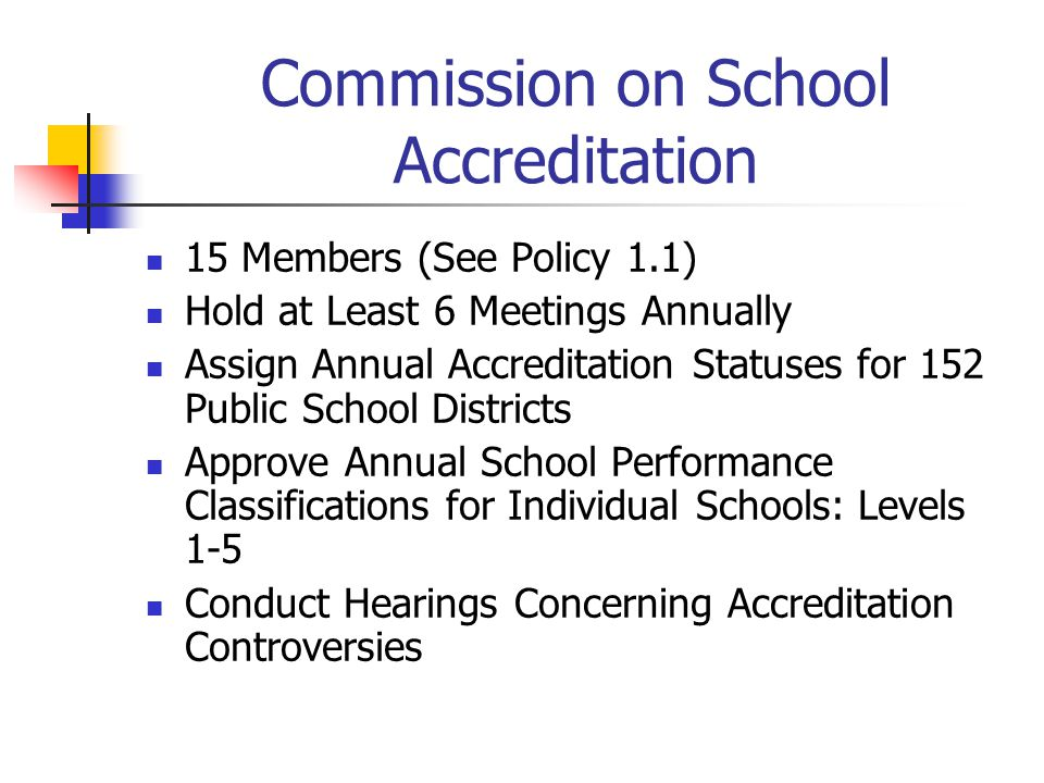 Commission on School Accreditation
