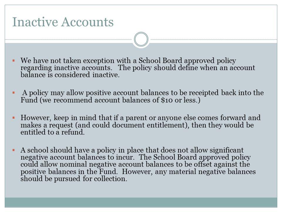Inactive Accounts