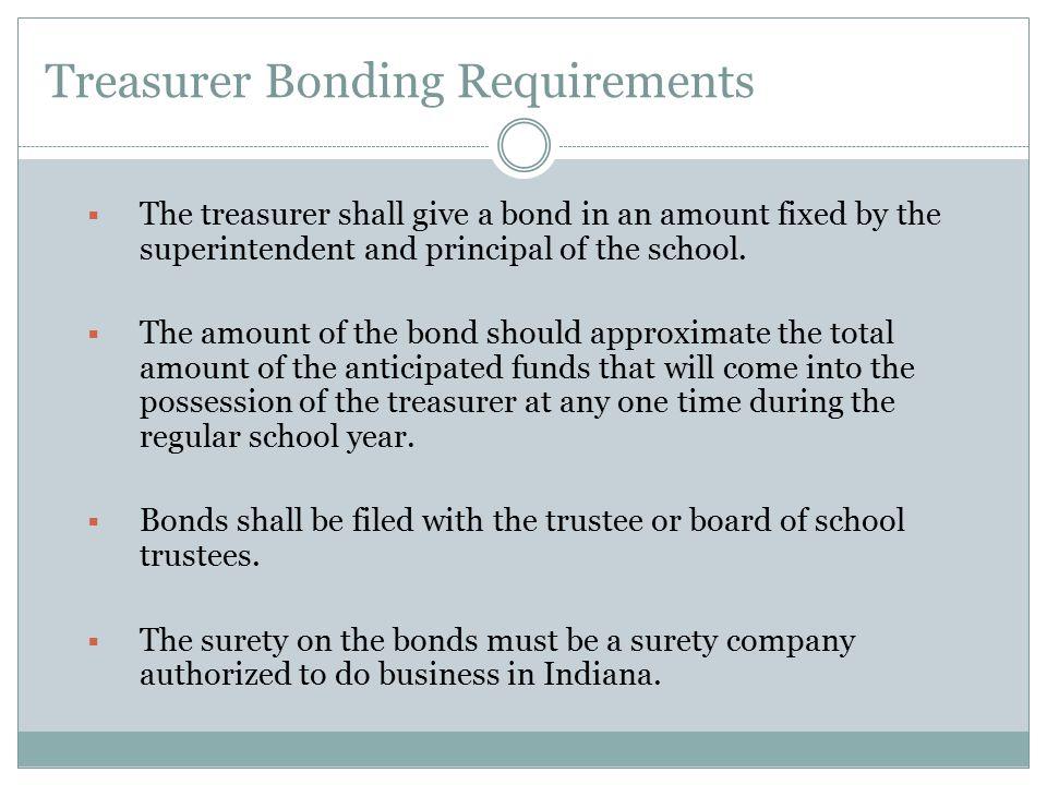 Treasurer Bonding Requirements