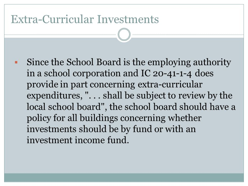 Extra-Curricular Investments