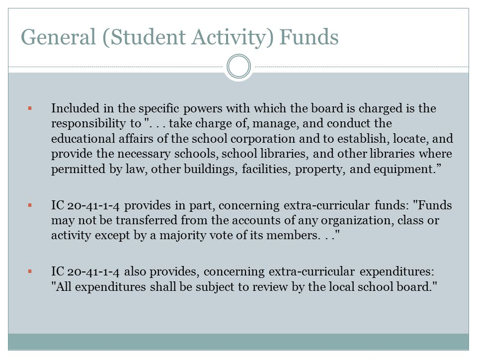 General (Student Activity) Funds