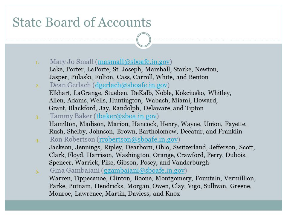 State Board of Accounts
