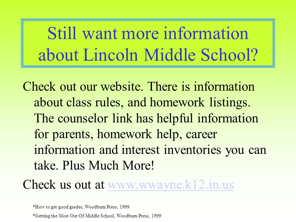 online middle school homework help Get free after-school homework help in 14 additional branch locations through  our new  this online resource for students provides access to hundreds of  magazine and  this searchable resource for middle school students features  loads of.