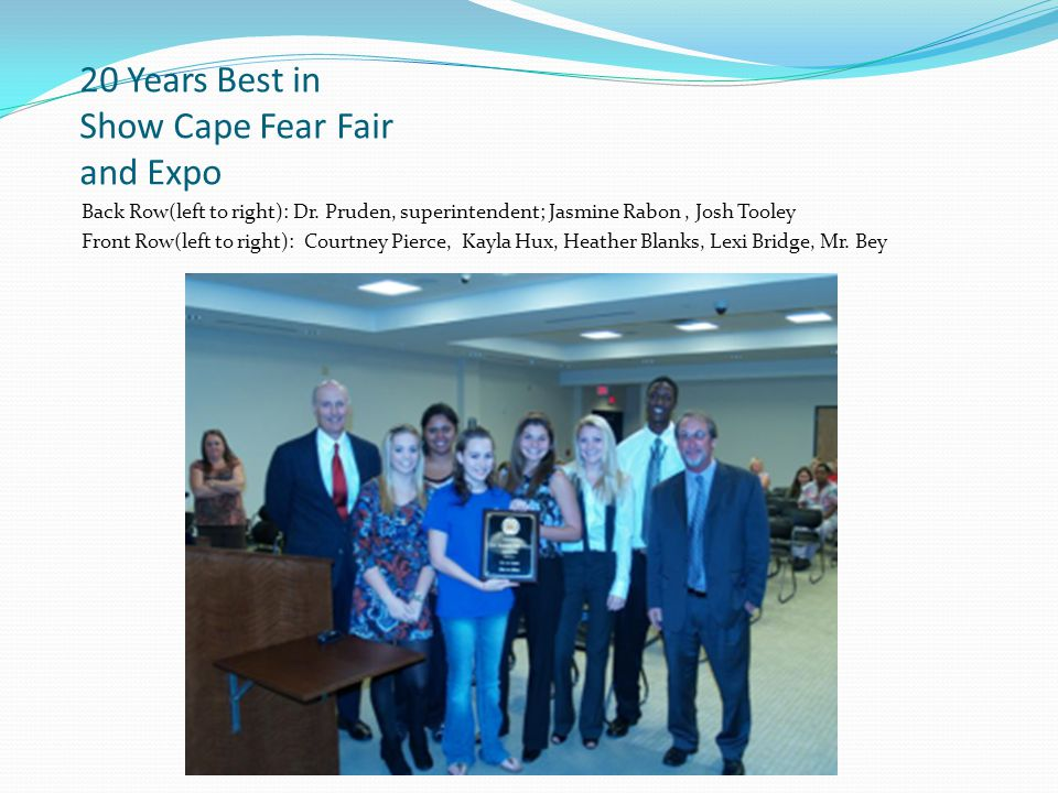 20 Years Best in Show Cape Fear Fair and Expo