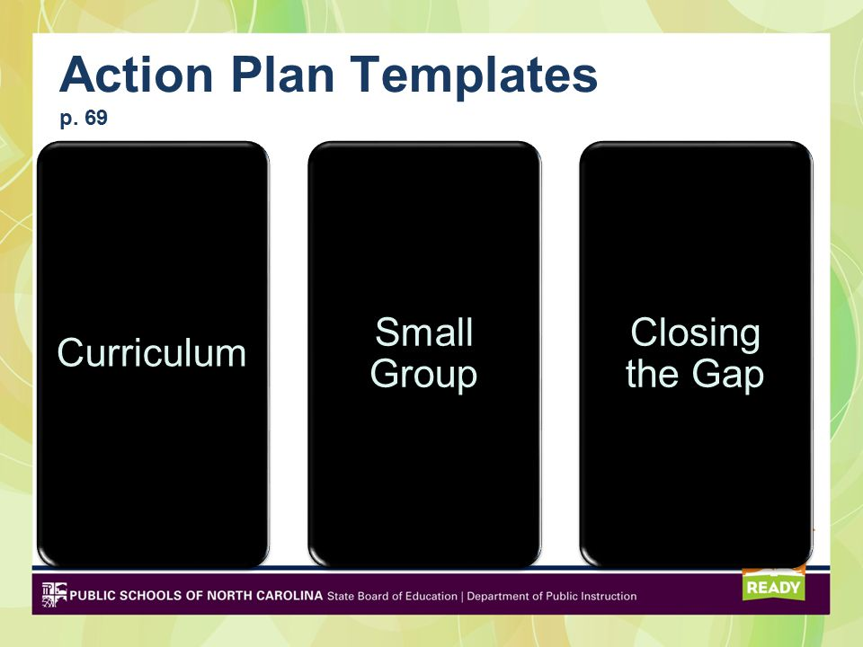Action Plan Templates p. 69