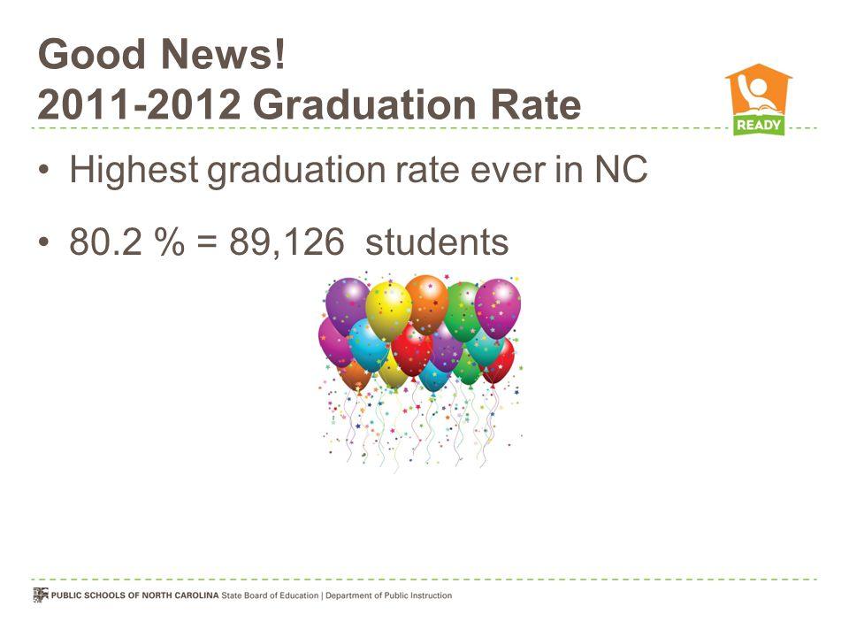 Good News! 2011-2012 Graduation Rate