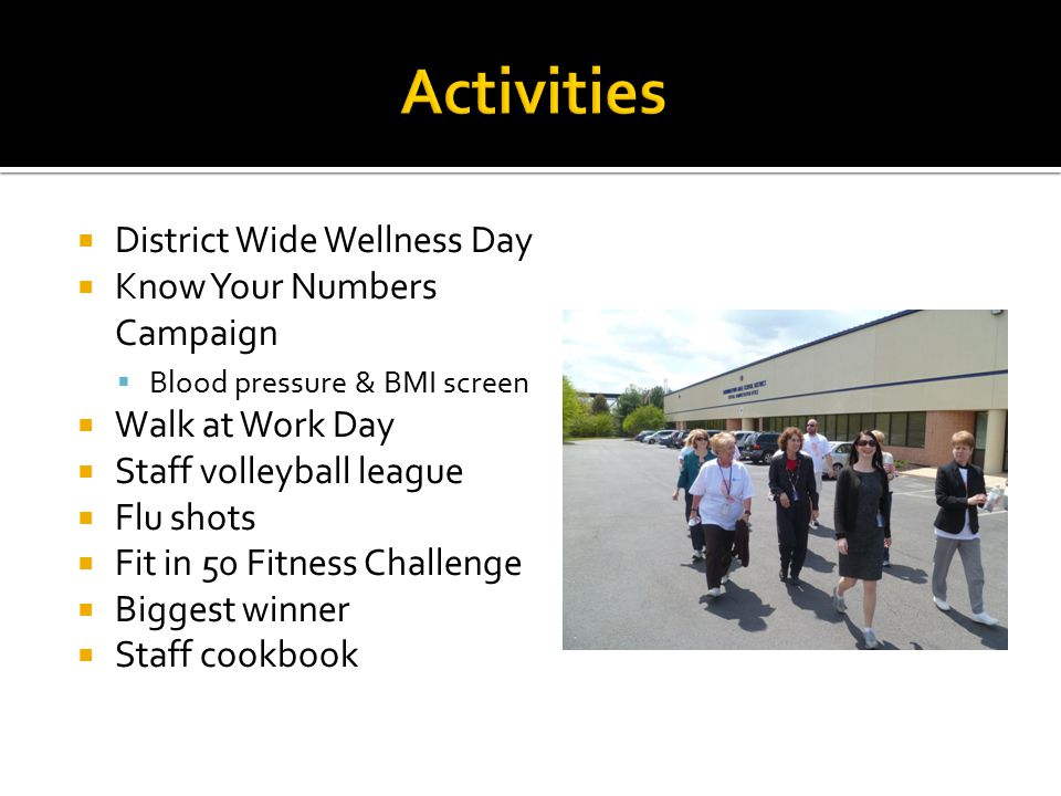 Activities District Wide Wellness Day Know Your Numbers Campaign