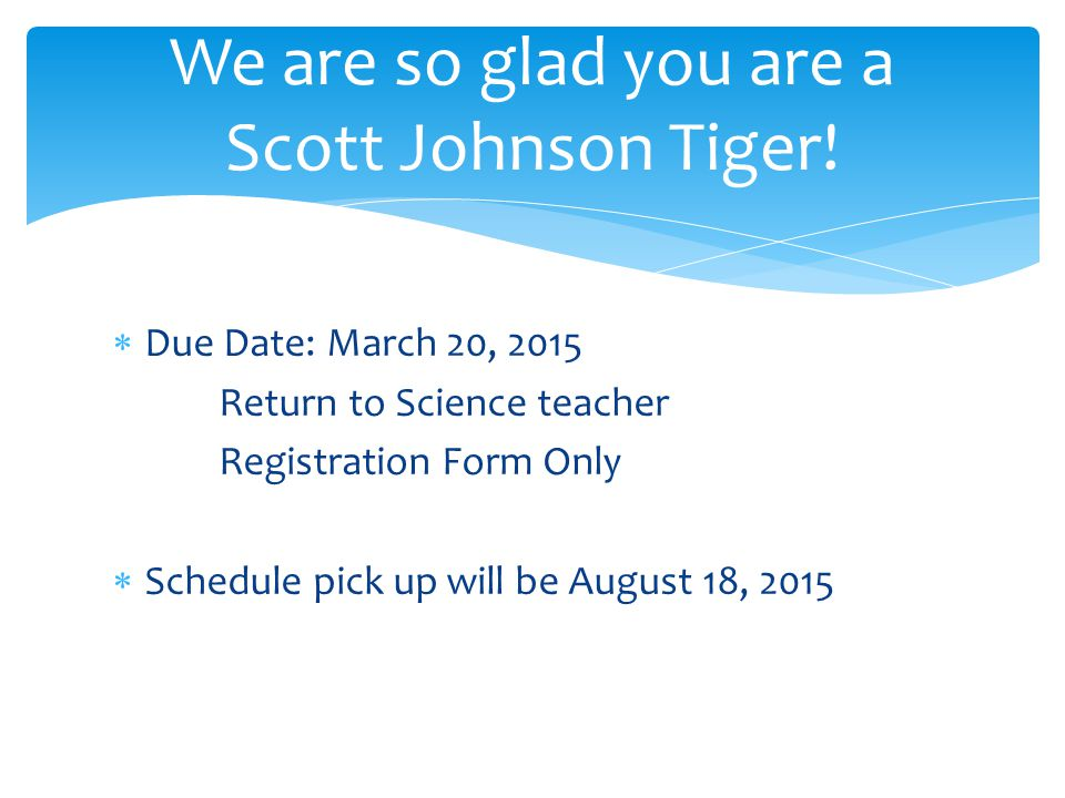 We are so glad you are a Scott Johnson Tiger!