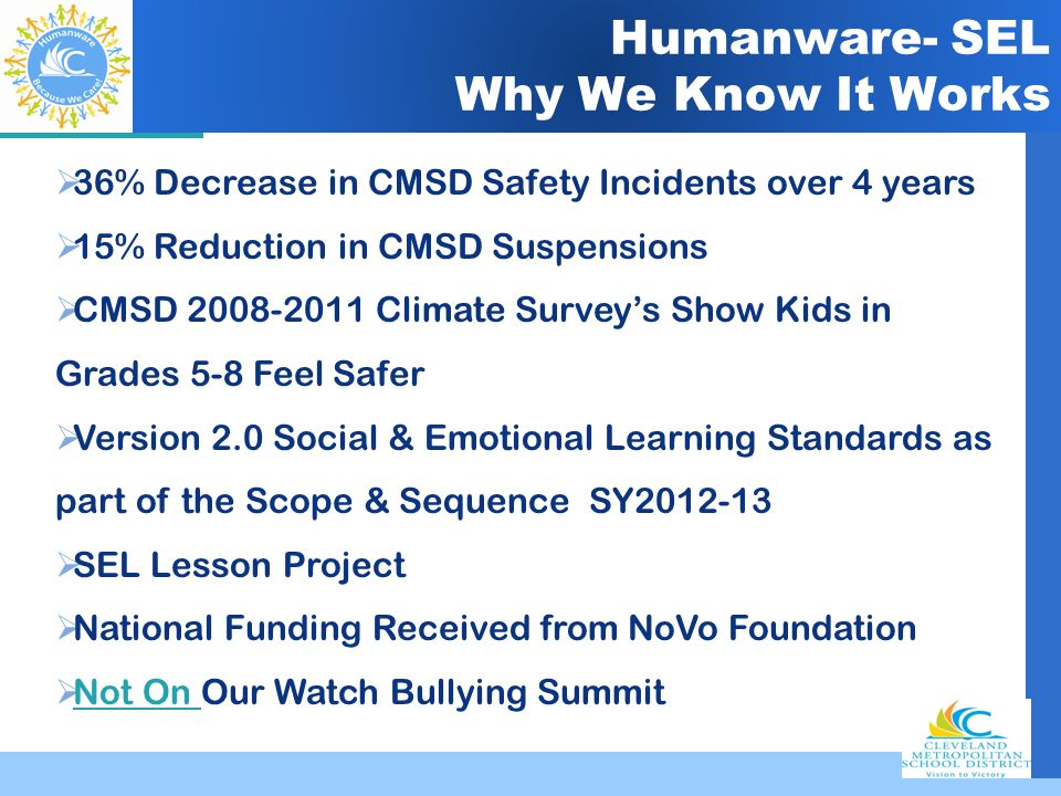 Humanware- SEL Why We Know It Works
