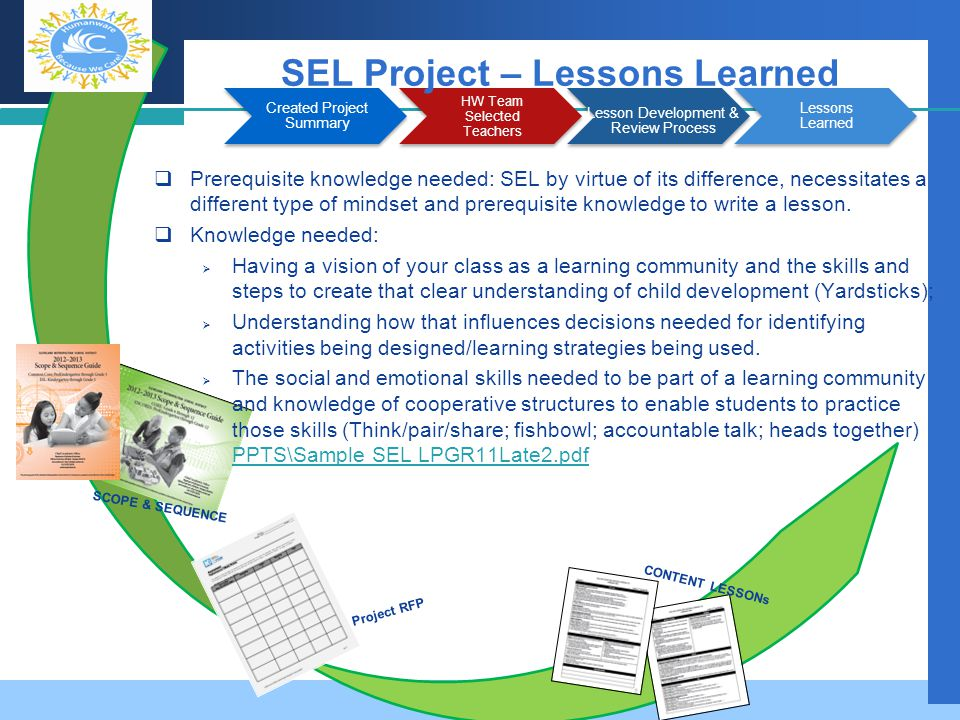 SEL Project – Lessons Learned