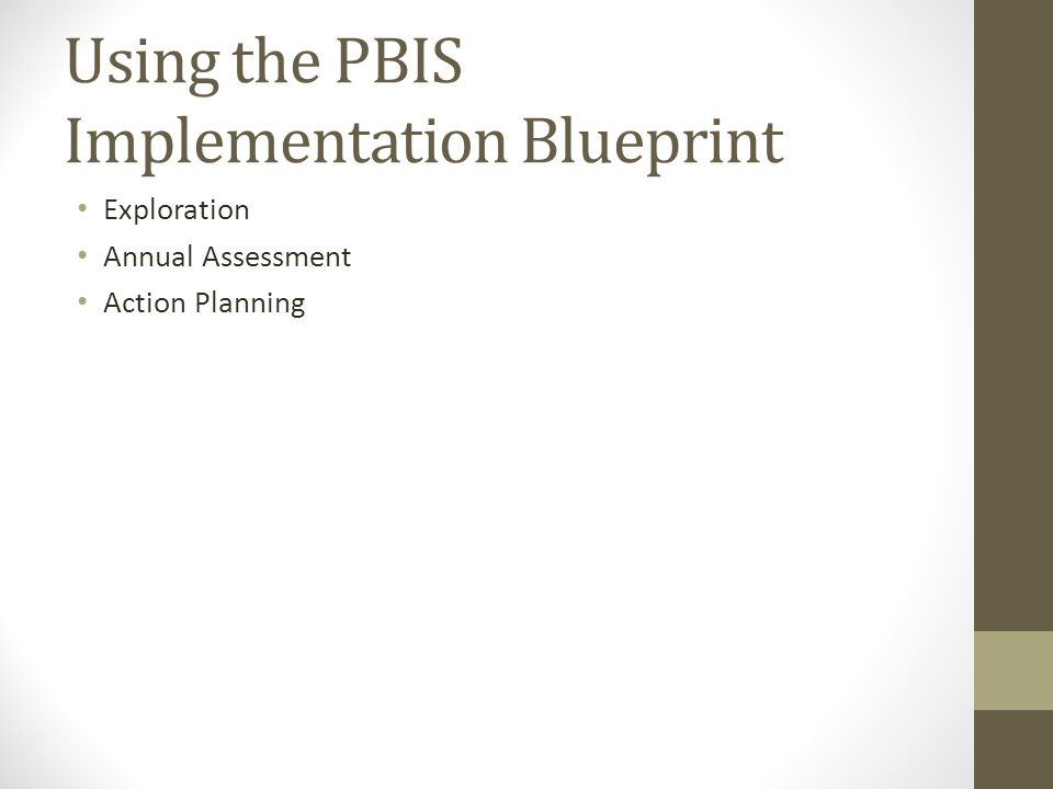 Using the PBIS Implementation Blueprint