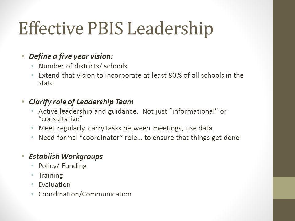 Effective PBIS Leadership
