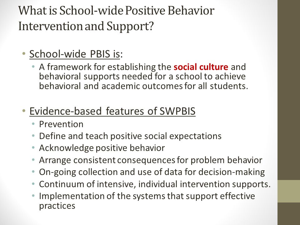 What is School-wide Positive Behavior Intervention and Support