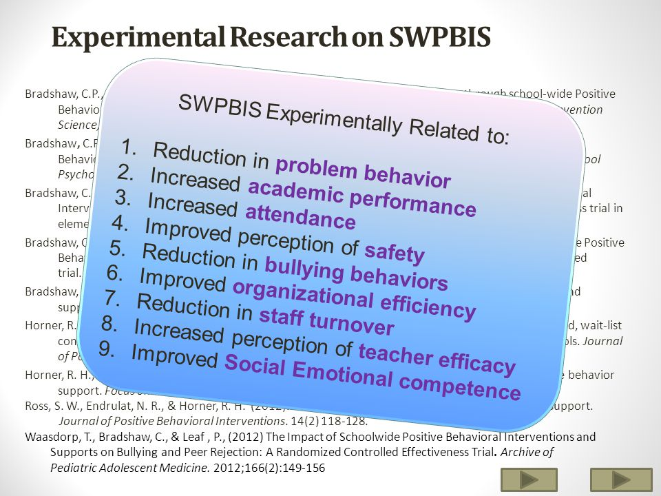 Experimental Research on SWPBIS