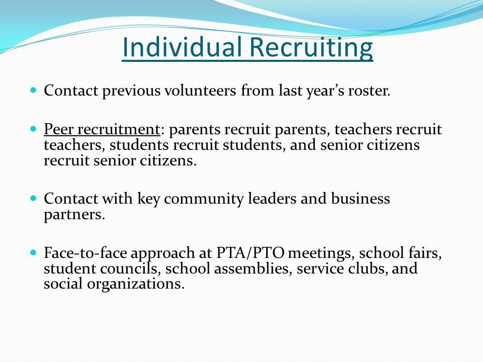 Individual Recruiting