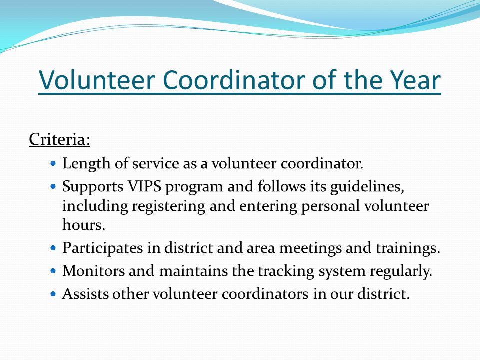 Volunteer Coordinator of the Year