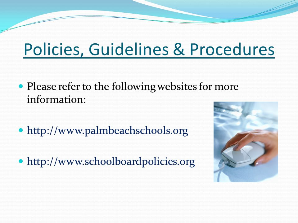 Policies, Guidelines & Procedures