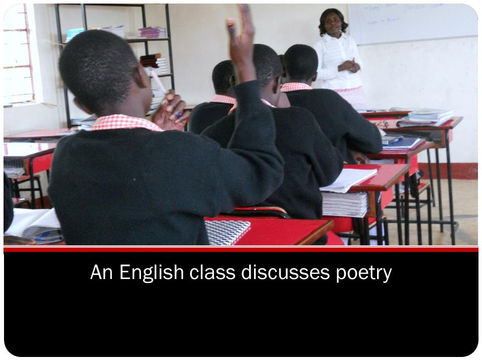 An English class discusses poetry
