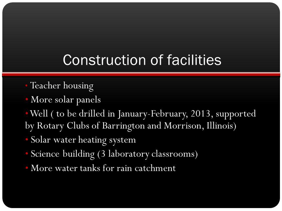Construction of facilities