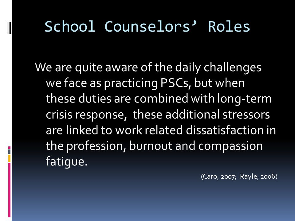 School Counselors' Roles