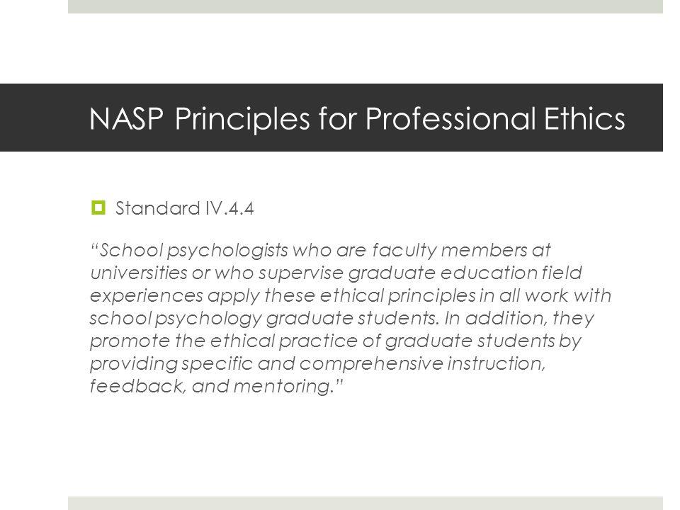 NASP Principles for Professional Ethics
