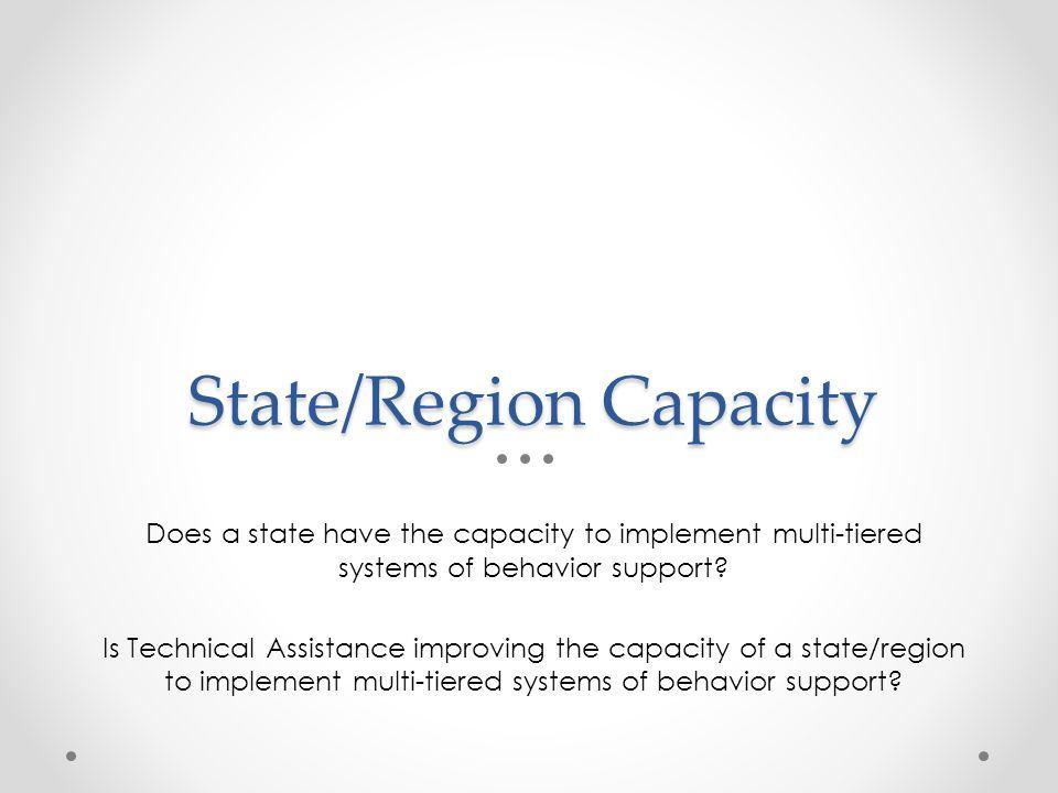 State/Region Capacity
