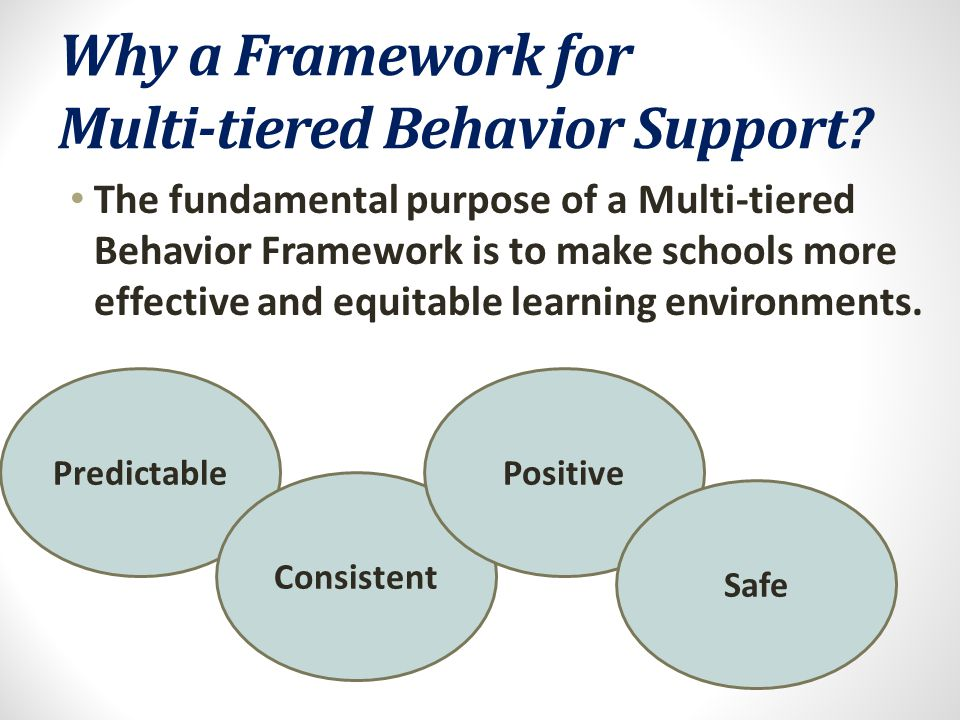 Why a Framework for Multi-tiered Behavior Support