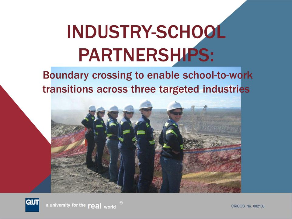 Industry-School Partnerships: Boundary crossing to enable school-to-work transitions across three targeted industries