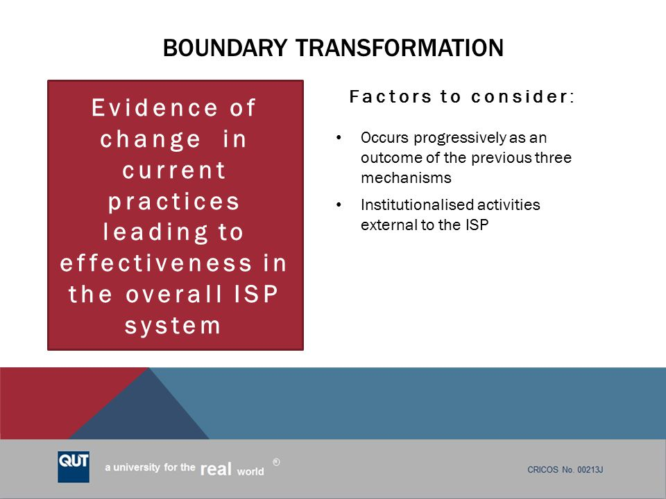 Boundary transformation