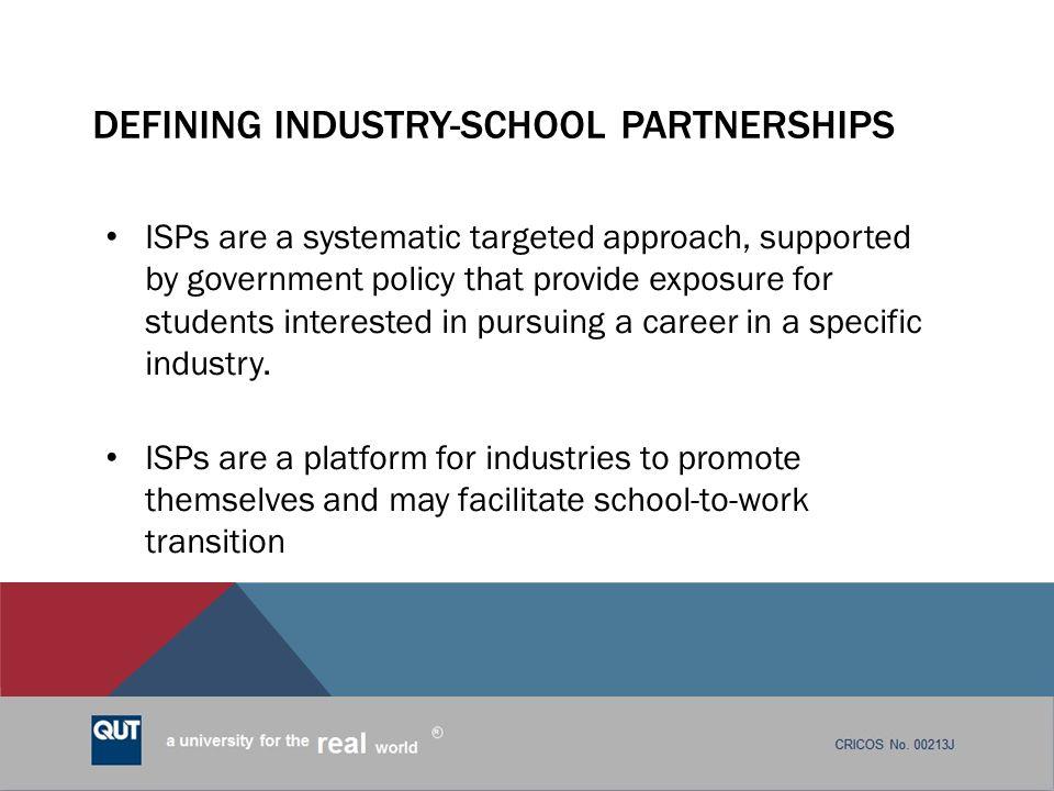 Defining Industry-School Partnerships