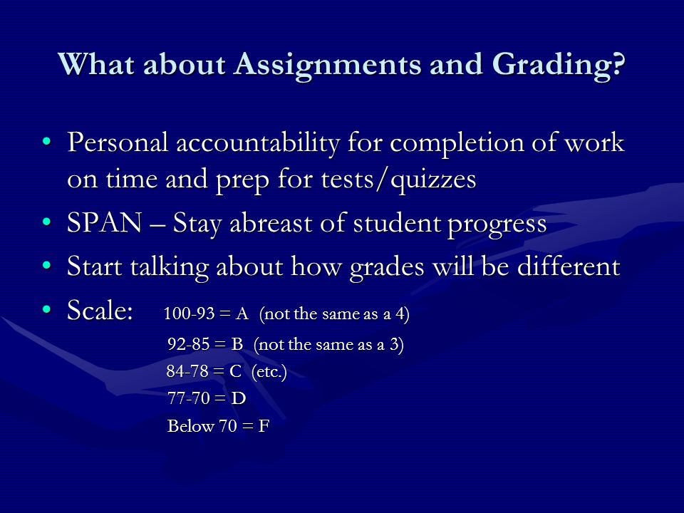 What about Assignments and Grading