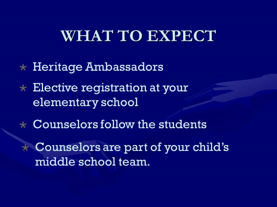 WHAT TO EXPECT Heritage Ambassadors