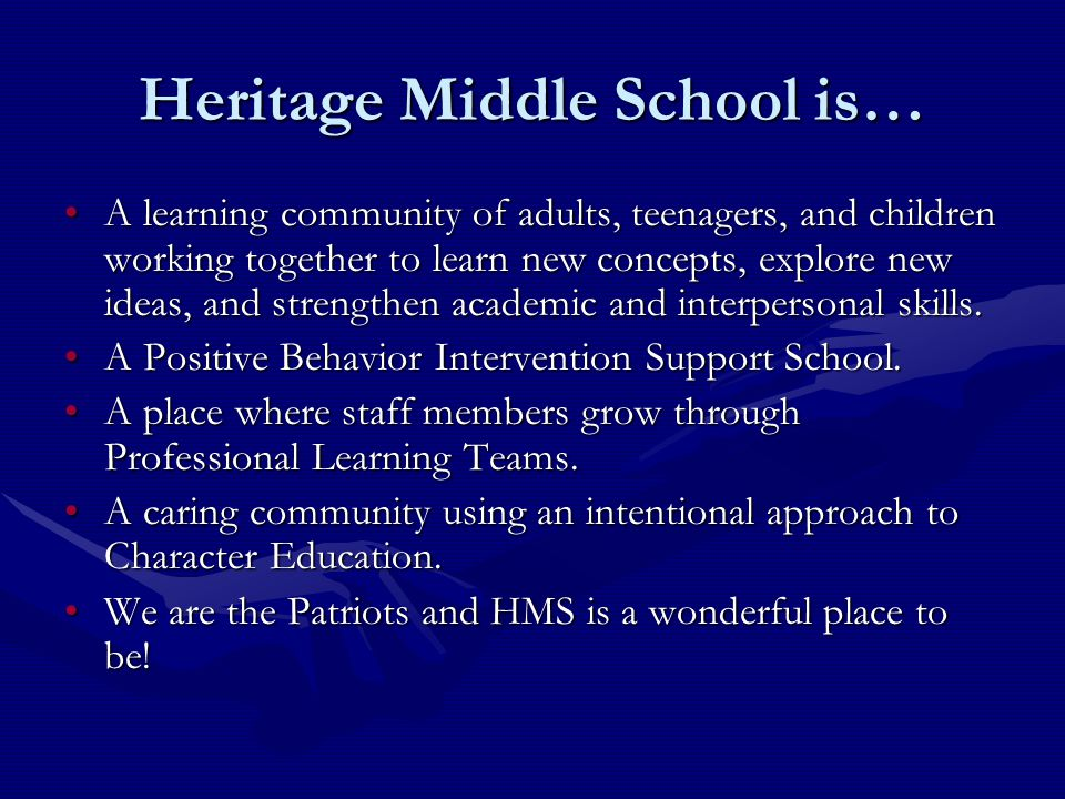 Heritage Middle School is…
