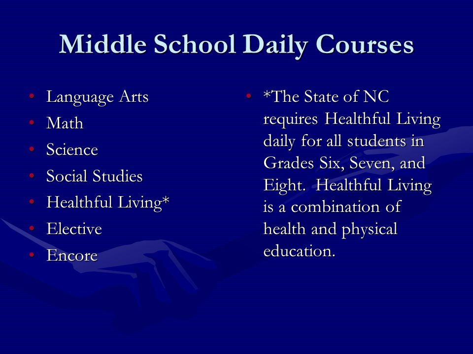 Middle School Daily Courses