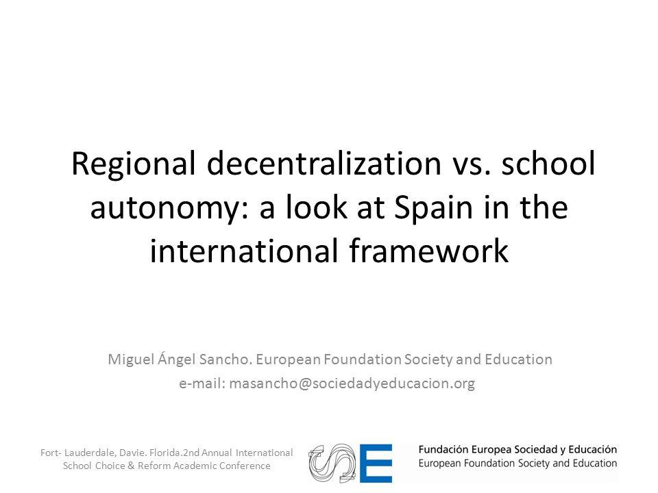 Regional decentralization vs